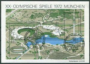 Bund-Block-Nr-7-gestempelt-ESST-Kiel-BRD-723-726-Olympische-Spiele-BRD-1972