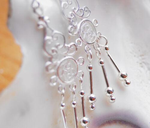 Ohrhänger plata 5,5 cm plata coqueto filigrana Chin icono Caracteres suerte