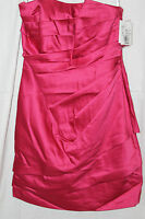 David's Bridal Strapless Satin Short Dress Watermelon Size 8 With Tags