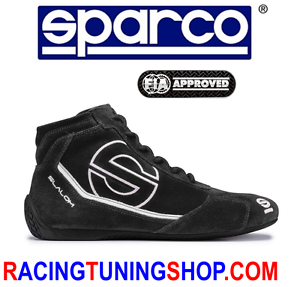 CHAUSSURES SPARCO HOMOLOGUÉES FIA TAILLE SLALOM RB3 TAILLE FIA 43 - RACING BOOTS 43 BLACK a6dcc3