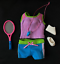 miniature 1 - Dora the Explorer Doll Clothes - Sports Styles Tennis Outfit with Racket & Shoes