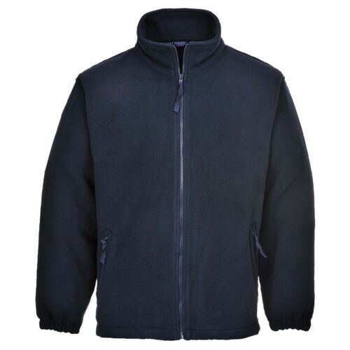 Portwest Aran Fleece Jacket Coat Winter Jumper Zipped Anti Pill Finish F205