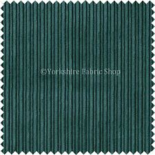 Thin Stripe Line Soft Velvet Cord Fabric Upholstery Sofa Curtain Material Teal