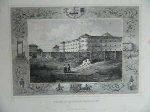 Incisione Prison Del Quartier Popincourt Imp. Delamain XIX