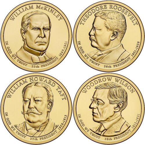 Denver Mint 2013 D Presidential Dollar 4 Coin Set Fast Shipping