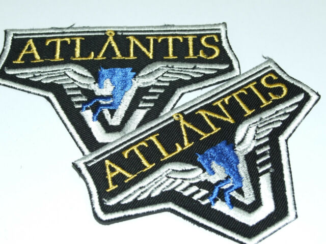 Stargate SG-1/Atlantis Team Patch - Lot of 2 Embroidered Iron On Patches