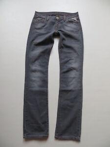 Replay-W-452-straight-Damen-Jeans-Hose-W-28-L-34-grau-orange-Label-Huefthose