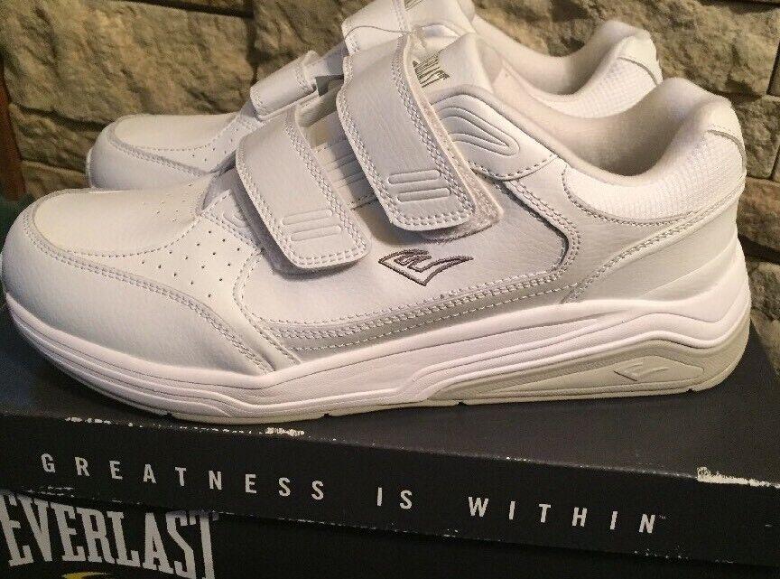 Everlast Sport Men's Leather 2 STRAP Wide Width shoes - Sz 9 Wide - Memory Foam