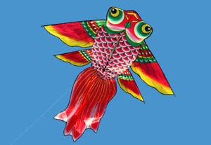 Free-Shipping-NEW-1-5m-Fish-Power-Kite-outdoor-fun-Sports-Children-Toys-stunt