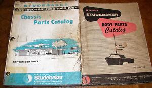 1959 1960 1961 1962 1963 Studebaker Châssis & Corps Pièces Livres Lark Hawk