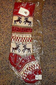 Nwt Pottery Barn Kids Classic Fair Isle Knit Reindeer Red