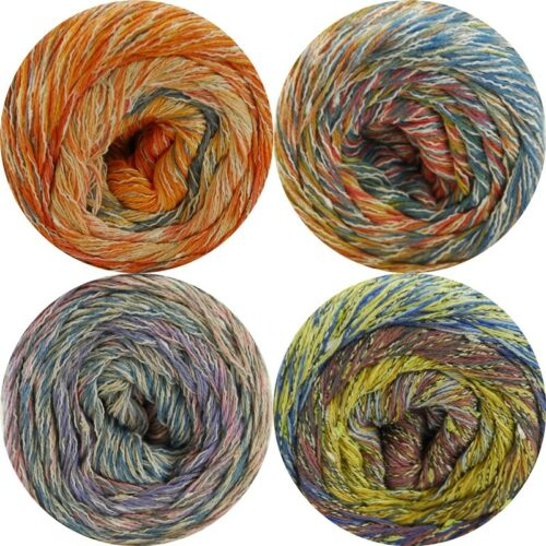 Lana Grossa gomitolo Summer tweed 100g lana-colores diferentes