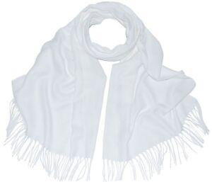New-Pashmina-Scarf-Shawl-Veil-White-Quality-Wrap-Woman-Wedding-Accessory