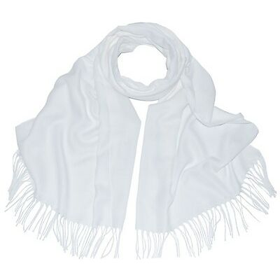 New Pashmina Scarf Shawl Veil White Quality Wrap Woman Wedding Accessory