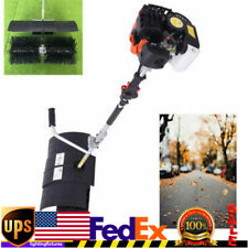 52cc 2 Stroke Gas Power Brush Broom Sweeper Artificial Grass For Patios Driveway