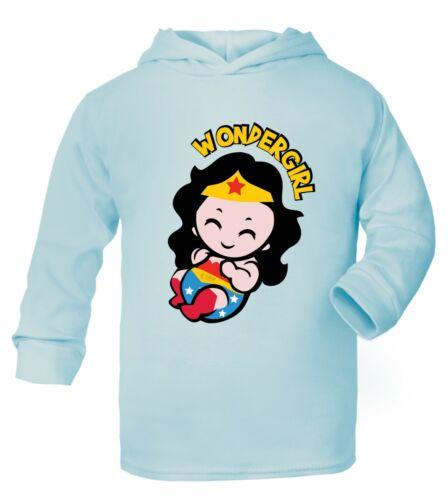 Wonder women Girl Superhero Baby age 0mth 6yrs Cotton Gift Costume Top Hoodie