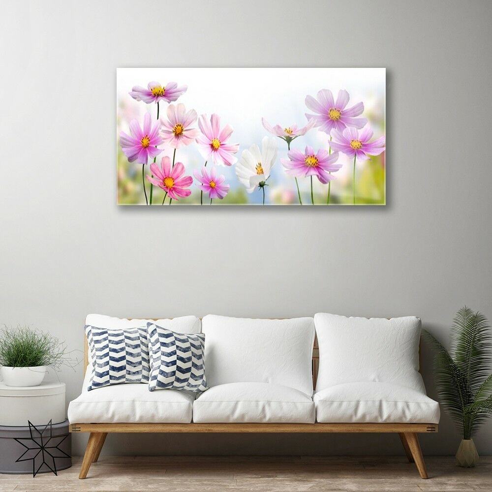 Print on Glass Wall art 100x50 Picture Picture Picture Image Flowers Floral 698468