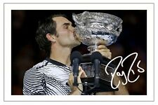 ROGER FEDERER 2017 AUSTRALIAN OPEN CHAMPION WINNER SIGNED AUTOGRAPH PRINT PHOTO