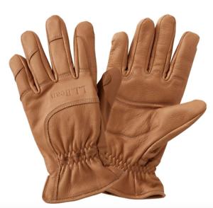 "ORVIS /""The Vermonter/"" Deerskin Leather Gloves $89 BROWN Men/'s Medium"