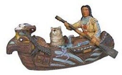 Deko Western Indianer 2 Indianerinnen Squaw handbemalt aus Polyresin