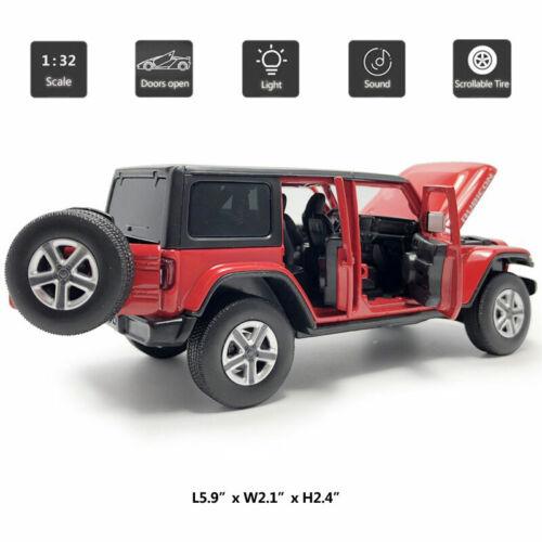 Jeep Wrangler Sahara Rubicon 1:32 Die Cast Modellauto Spielzeug Model Sammlung