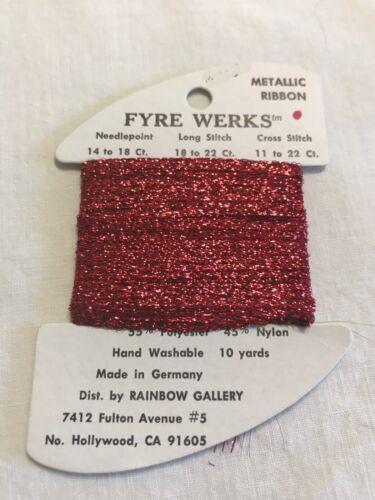 Rainbow Gallery Fyre Werks  Needlpoint Embroidery Thread
