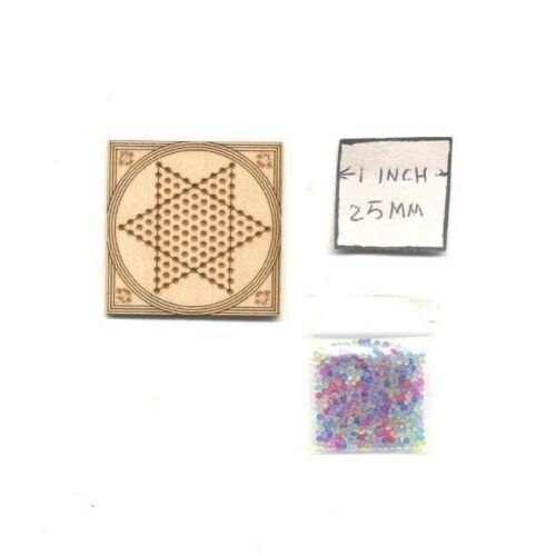 Chinese Checker Board Set Kit  TY107 dollhouse kit Dragonfly 1//12 scale Toy