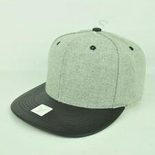 Grey Black Pattern Print Plain Adjustable Snapback Flat Bill Blank Hat Cap  Blank a33536b7d427