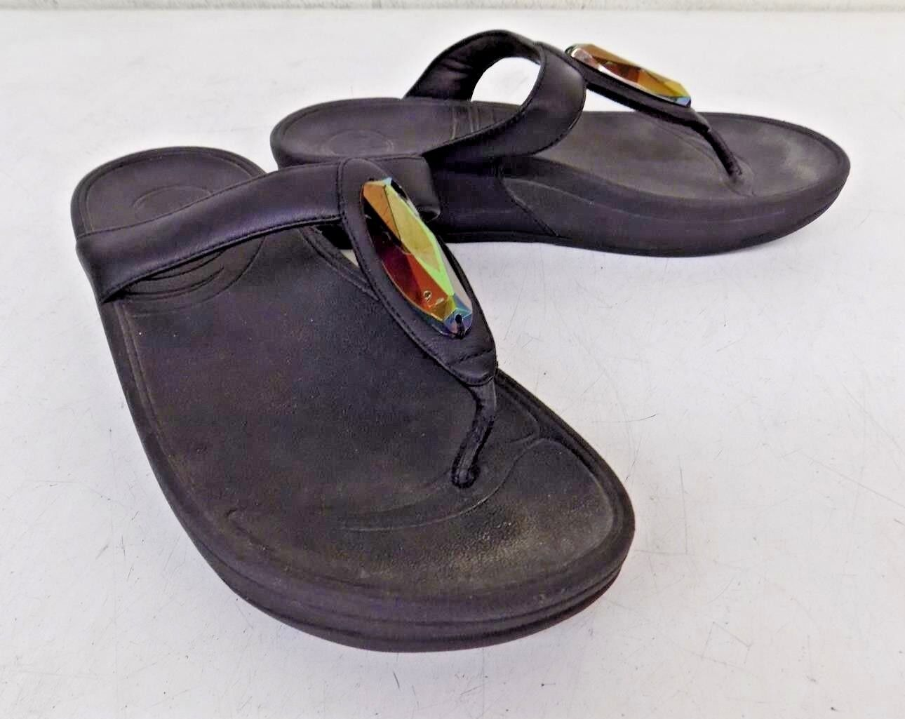 Fitflop MicroWobbleBoard Thong Sandals Fast US Women's 7 GREAT Fast Sandals Shipping bd2ce6