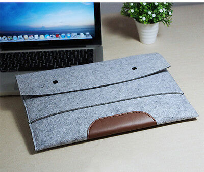 "11.6"" Laptop Sleeve Case Woolen Felt Computer Cover Bag Pouch For Macbook Air"