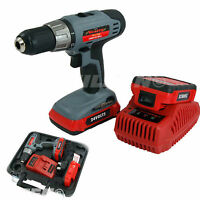 Heavy Duty 24v Lithium Li-ion Cordless Drill Driver & 2 Batteries In Case