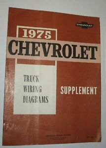 1975 Chevrolet Truck Wiring Diagrams OEM Factory Service ...