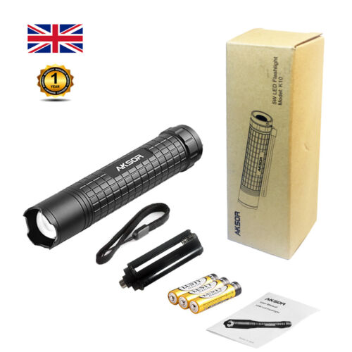 CREE LED TORCH FLASHLIGHT Zoomable Torch Pocket-Sized 3 Light Modes Waterproof