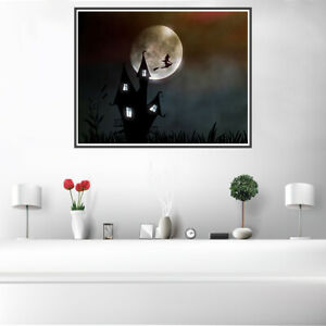 Prime Details About Witchs House Moon Canvas Art Poster Living Room Unframed Picture Wall Decor Download Free Architecture Designs Rallybritishbridgeorg
