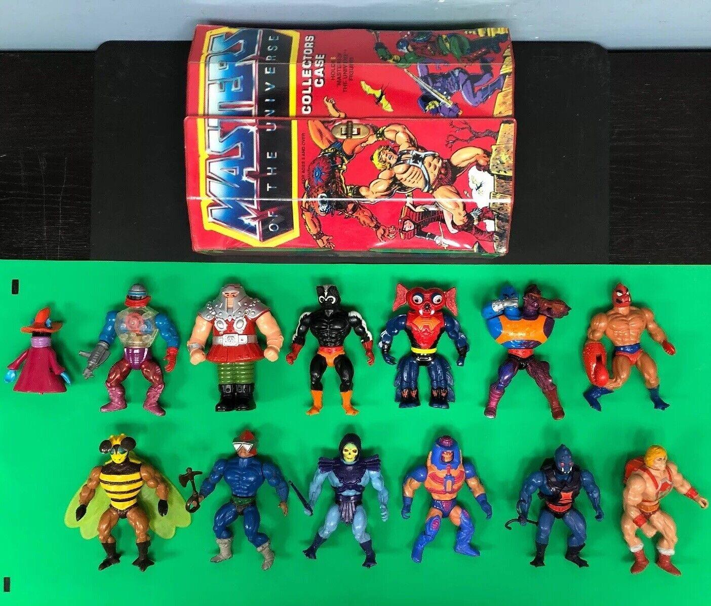 Mattel Masters Of The Universe MOTU azione cifras Lot w Collector Case 40700