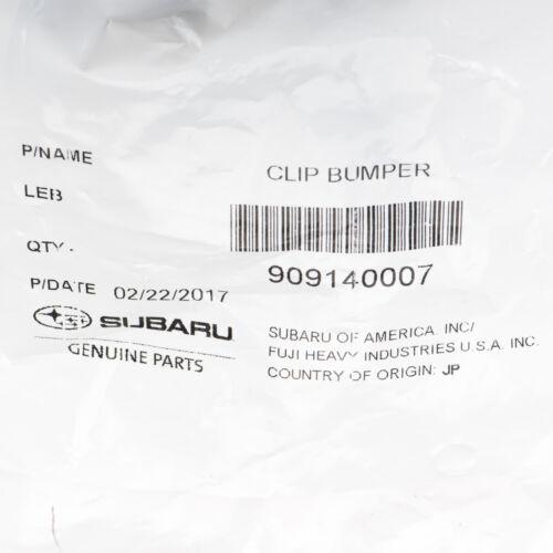 OEM Subaru 1x Engine Cover Fender Clip Push Type Retainer MPN 909140007