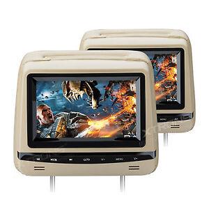 2x7 zoll auto kopfst tze mit dvd player screen touch. Black Bedroom Furniture Sets. Home Design Ideas