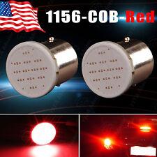 2Pcs Super Red 1156 BA15S COB LED Lights Car Tail Brake Backup Stop Light Bulbs