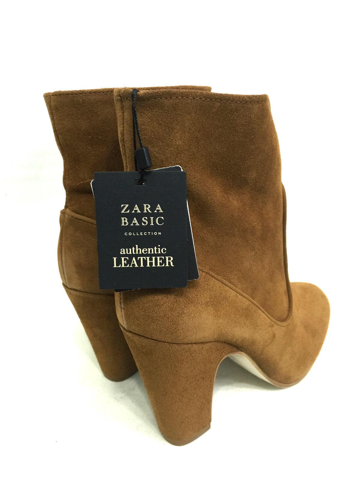 Zara braun Leder Leder braun Stiefeletten Größe 37_38_39_40 a41267