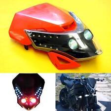 Universal Motorcycle LED Streetfighter Orange Headlight Head Lamp Fairing Signal