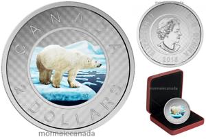 Pure Silver Coloured Coin 2016 Canada Big Coin Series $2-5 oz