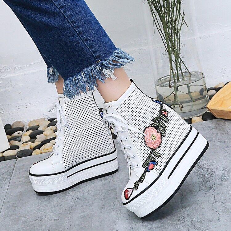 Mujer Mujer Mujer Zapatos Zapatillas De Deporte Sandalias Bordado Tobillo Alto Cuña de plataforma tacón alto  diseños exclusivos
