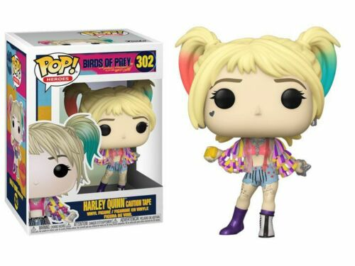 "Birds of Prey Vinyl Figur 302/"" Funko POP /""HARLEY QUINN CAUTION TAPE"