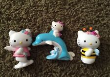 "Hello Kitty Figurine Star Angel Wand Cloud Solid Plastic Toy 2-3"" 2001 Sanrio"