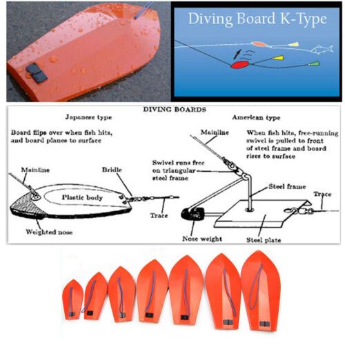 K-Type Diving Board with Thread for Trolling on Boat