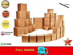 "5 STRONG SINGLE WALL CARDBOARD BOXES 13""x10""x12"" Mailing Packing Postal Removal"