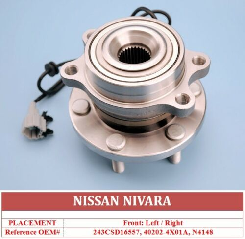 Front Wheel Bearing Kit Hub Assembly For Nissan Navara