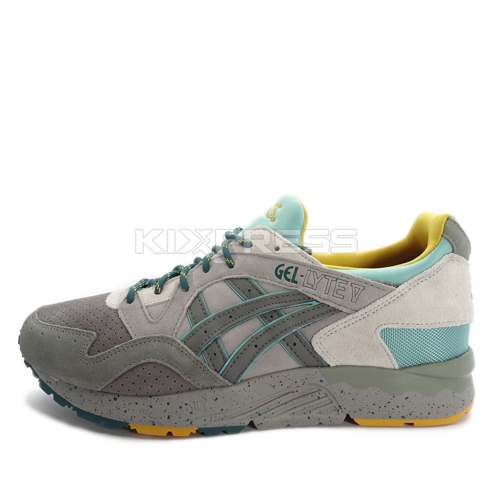Asics  Tiger GEL-Lyte V [H7J4L-9697] Classic Running Aluminum Carbon  manufacturers direct supply