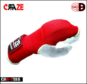 Gel Inner Gloves With Wrist Hand Wraps Padded Foam MMA Boxing Muay Thai Bandages