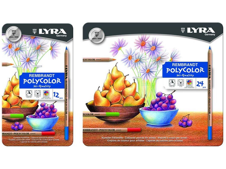 Lyra REMBRANDT POLYFarbe Etui Farbstifte M12 bzw M24 Auswahl | Attraktiv Und Langlebig  | Tadellos  | Modern